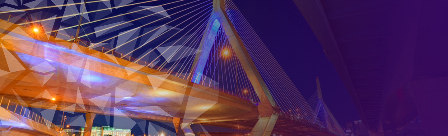 Zakim bridge on purple graphic