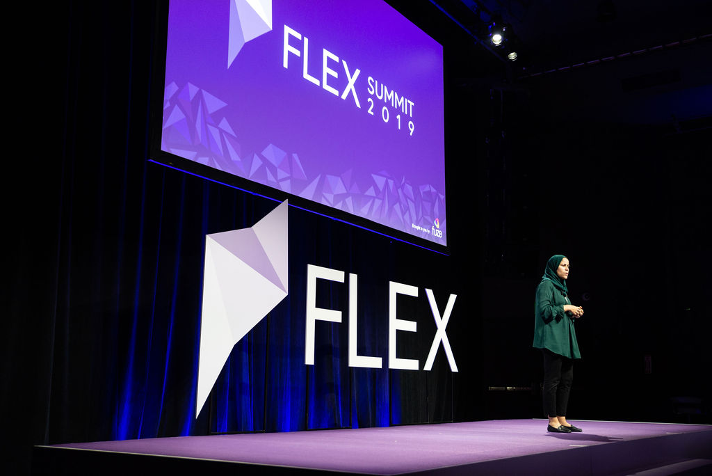A presentation at Flex Summit 2019