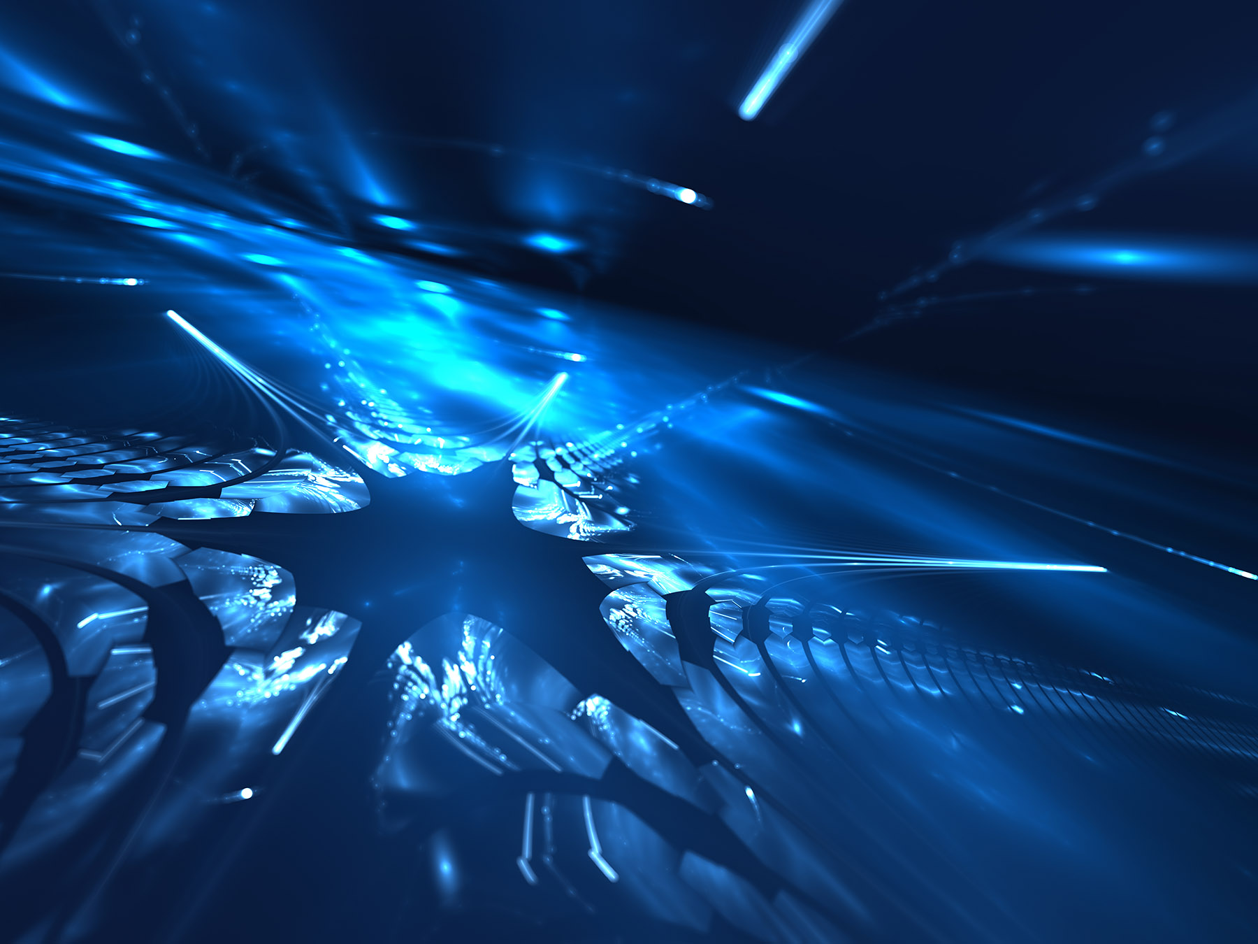 Image of blue abstract data burst
