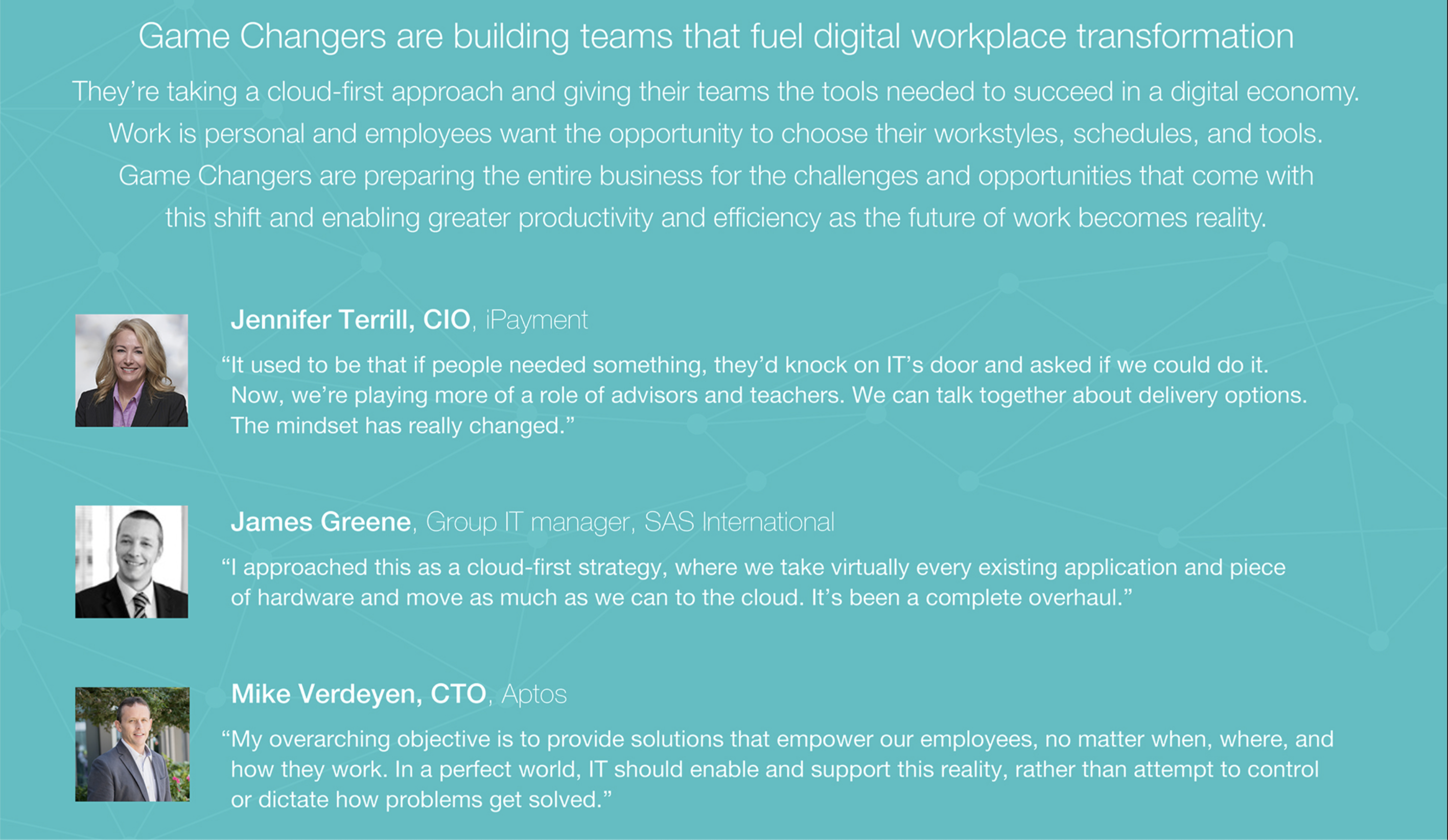Game Changers are building teams that fuel digital workplace transformation
